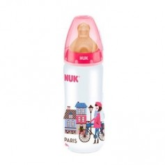 BIBERON FC + PP LATEX NUK TRAVEL 1 M 300 ML